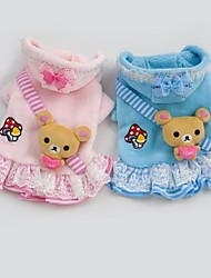 Lovely Bear Dress Design Clothes For Dogs Pets(Assorted Sizes,Colors)