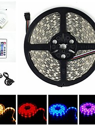 5M RGB 38W 150LED 5050SMD DC12V IP68 Waterproof Strip Light + Remote Control RGB AC100-240V