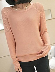 Women's New Lace Stitching Bottoming Sweater