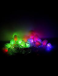 4m 20 leds Halloween Noël des lumières décoratives de fête des lumières bande-échinacée (220v)