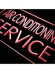 j661 Air Conditioning Service Open NR Neon Light Sign
