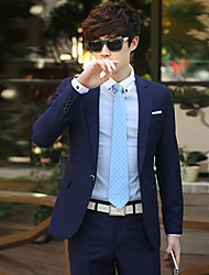 Men's Business Slim Solid Color Long Sleeve Suits(Blazer And Pants)