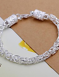 925 Sliver Thick Chain Bracelet (1Pc)