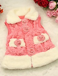 Girl's Fish-scale Pattern Flowers Hairy Vest (More Colors)