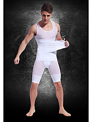 Top Custom Strong Lightweight Breathable Mesh Belt Mens' Abdomen Fat Burning Body Sculpting Clothing White