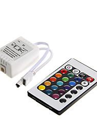 z®zdm 6a 72W ir rgb 24 principais levou controle remoto para RGB levou faixa de luz (DC12V)