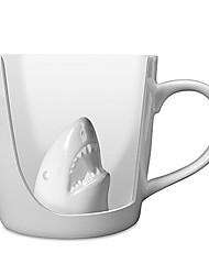 """3.6 """"h requin créatrice en céramique de café tasse"""