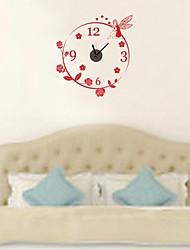zooyoo® DIY красный и черный цвет электронный батареи хронометрист настенные часы настенные наклейки домашнего декора для вас гостиная