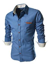 lemark mannen herfst winter mode casual shirt