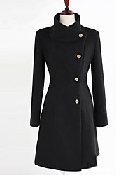 Yiluo женская лацкане шеи кашемировый пальто