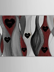 Hand Painted Oil Painting Abstract   Love Art for Home with Stretched Frame