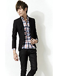 Senleisi Men's Korean Causal Covered Button Slim Blazer Coat