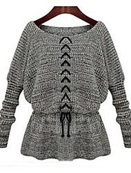 женская одно слово привело битой рукав талии свитер