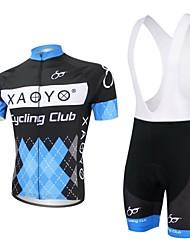 XAOYO® Maillot et Cuissard à Bretelles de Cyclisme Homme Manches courtes Vélo Respirable / Séchage rapide / Pocket RetourEnsemble de