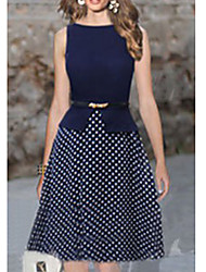 polka dots with belt dress