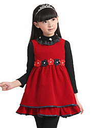 HiBaby Girl's New Autumn Winter Wool Dress