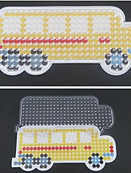1PCS Template Clear Perler Beads Pegboard Yellow School Bus Pattern for 5mm Hama Beads Fuse Beads