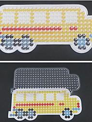 1pcs template chiaro Perler perline giallo pegboard modello scuolabus per perline hama 5 millimetri fusibile perline