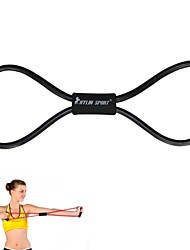 Black Resistance Band Tube Fitness Muscle Workout Exercise Yoga Cord Elastic 8 Type