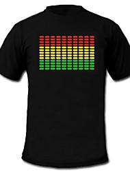 le son et la musique vu de spectre activé Visualizer el conduit t-shirt (2 * AAA)