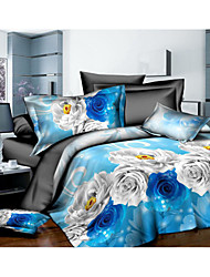 Bedtoppings 3D prints Duvet Cover 4PCS Set