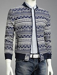 Men's Long Sleeve Jacket , Cotton Casual/Work/Formal Print