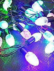 LED String forma coni di 28 luci del pino resina 220v 3m