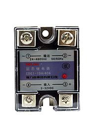 de estado sólido de control del relé dc-ac-40a monofásico SSR de ca da Delixi cdg1-1da40a eléctrica