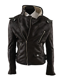George Men's Foreign Trade Wholesale Fashion Simple Slim Delicated Woolen Leather Coat
