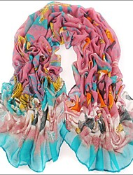 Blue Pink  Bali Yarn Scarf Cotton Cape Spring And Autumn Long Design Autumn And Winter Women's Scarf