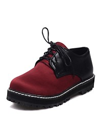 Women's Shoes Round Toe Low Heel Oxfords Shoes with Lace-up More Colors available
