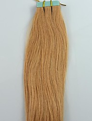 20Inch 20pcs Strawberry Blonde Brazilian Remy Hair Tape Human Hair Extensions Straight