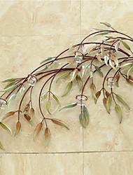 Metallwand Kunst-Wanddekor, Weiden Leuchter Wanddekor Geschenk Kerze Tasse