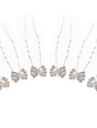 Gorgeous Rhinestones/Imitation Pearls Wedding Bridal Pins/ Flowers 6 Pieces