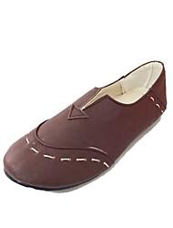 Las mujeres de piel talón plano Confort holgazanes de los zapatos (más colores)