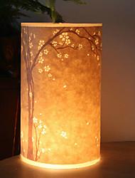 lámpara de pie 1 luz de la novedad patrón de árbol pantalla de pergamino 220v