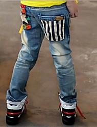 Boy's Strip Pocket Jeans