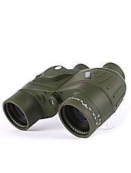 BIJIA 7x50 Waterproof and Night Vision Navy Binoculars Telescope with Rangefinder