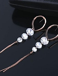 Fashion High Grade Sapphire Classic Luxury Zircon Earrings