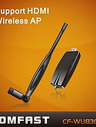 COMFAST® CF-WU830NS  2.4GHz 802.11b/g/n  300Mbps USB 2.0 Wireless Wi-Fi Network Adapter - Black