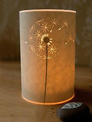 Lampadaire 1 pissenlit lumière sabot parchemin abat-jour 220v