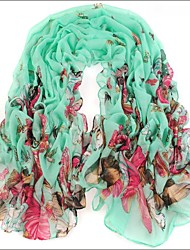 Ultralarge Blue Green Bali Yarn Scarf Cotton Cape Spring And Autumn Long Design Autumn And Winter Women's Scarf