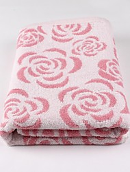 Thouse®Rose Jacquard  Bath Towel  100% Cottonl    70cm*140cm