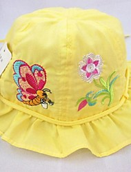 Girl's  Fashion Lovely Butterfly Flower Fold Fold the Side Hat