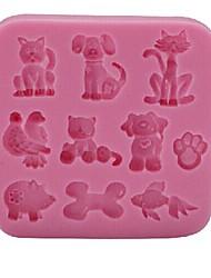 Cat Dog Pig Baking Fondant Cake Chocolate Candy Mold,L8.5m*W8.5cm*H1.1cm