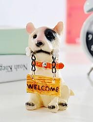 cachorro con signos para la venta de dibujos animados para los juguetes de los animales de resina decoración de la habitación