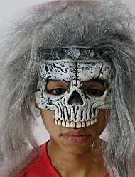 roi de masque squelette en latex pour Halloween