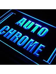 s103 voiture à moteur chrome auto moto signe de lumière de réparation
