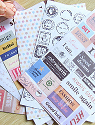 Postmark Word Scrapbooking Decorate Stickers (6PCS)