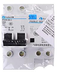 Courant résiduel disjoncteur RCB vide disjoncteur de fuite de protection 2p63a